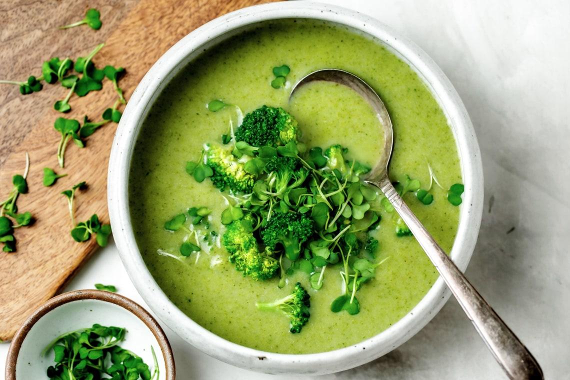 Një Supë Krem Brokoli për të Lëpirë Gishtat